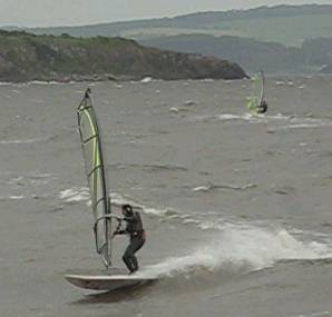Stephen windsurfing at Silverknowes
